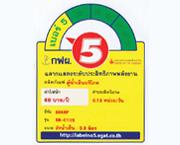 ฉลากประหยัดไฟเบอร์ 5 (SB-C10S)