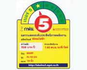 ฉลากประหยัดไฟเบอร์ 5  (PJ-TA163)