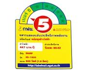 ฉลากประหยัดไฟเบอร์ 5 (KS-1800)
