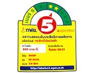 ฉลากประหยัดไฟเบอร์ 5 (KP-B28S)