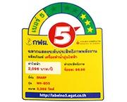ฉลากประหยัดไฟเบอร์ 5 (WH-B55)