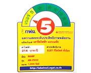 ฉลากประหยัดไฟเบอร์ 5 (AM-P333)