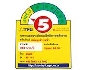 ฉลากประหยัดไฟเบอร์ 5 (KS-11E)